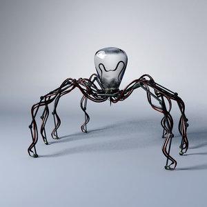 mechanical robot spider obj