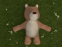 bear toy plush 3d x