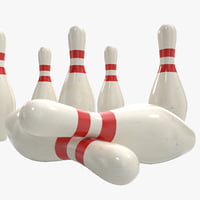 3d model bowling pins