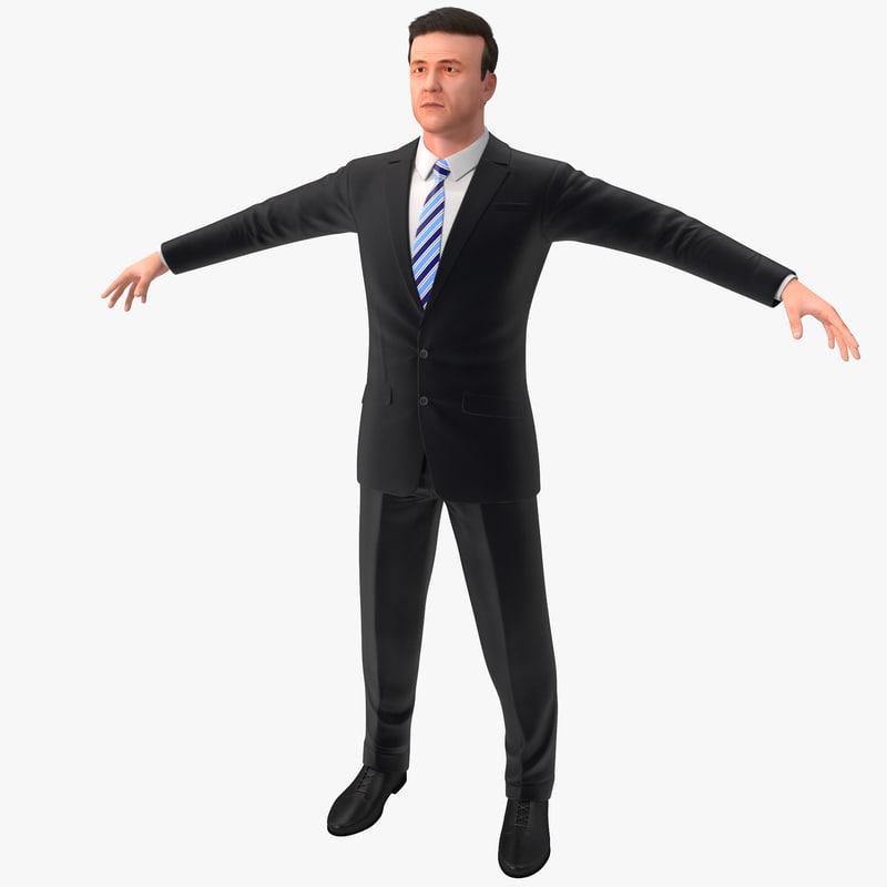 businessman 5 version 2 3d model