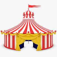 3d circus tent model