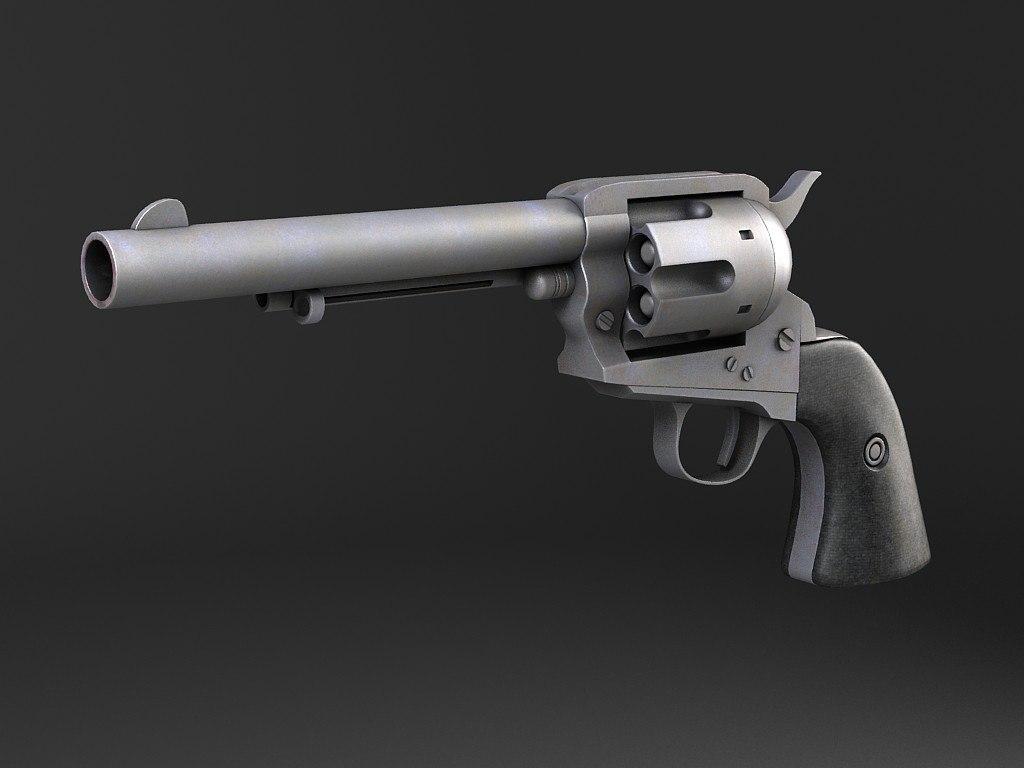 3d model colt peacemaker revolver