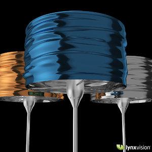 3d aqua cil terra floor lamp model