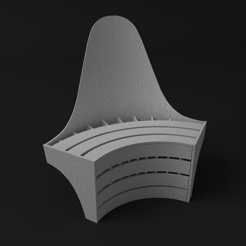 3d max module chair squid