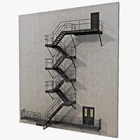 3dsmax escape stairs