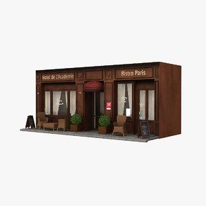 france restaurant hotel obj