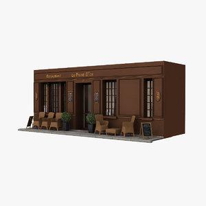 3d france restaurant model