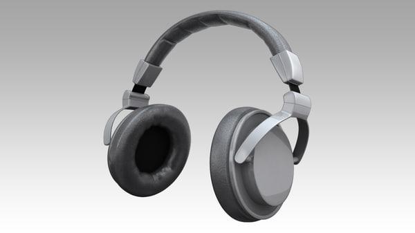 3d model headphones phones head