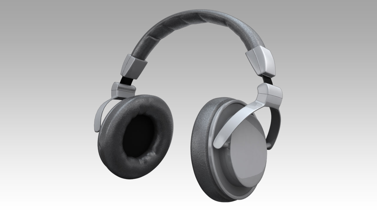 3d model headphones phones head