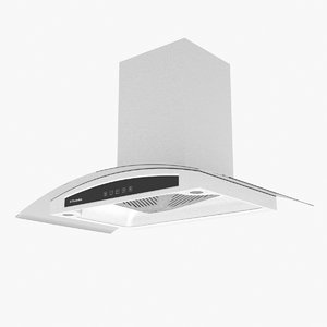 3d model kitchen hood