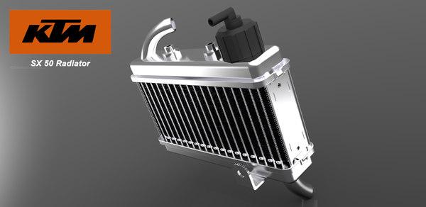 maya radiator ktm 50 sx