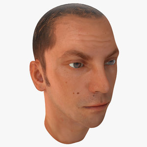 male head 18 3d 3ds