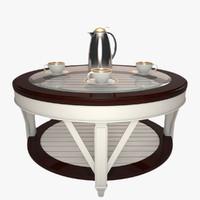 3d model glass table promenade coffee