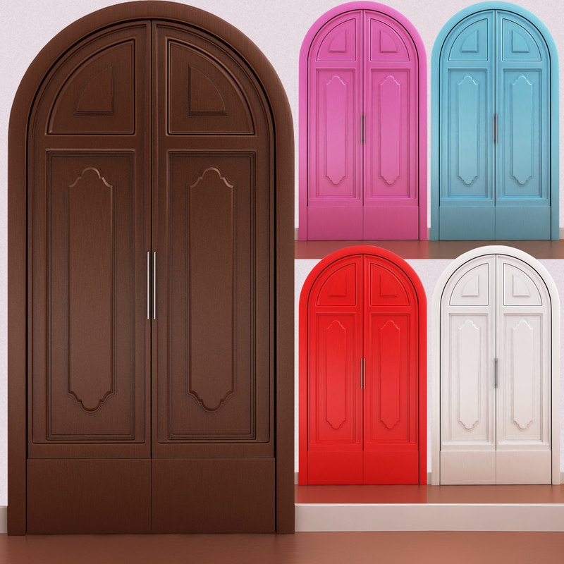 door scene 3d model