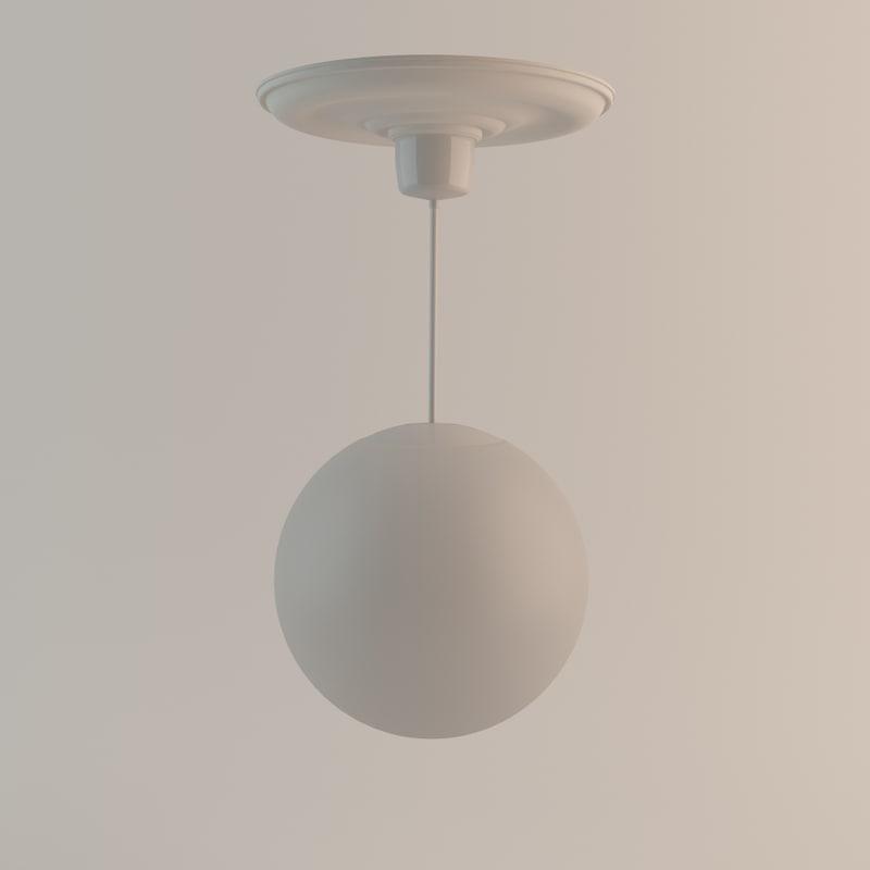 1940s roof lamp 3d model