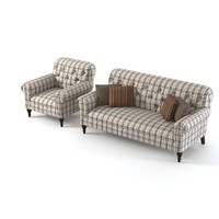 schnadig lynn sofa 3d model
