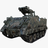 US Army Armored Vehicle M901 ITV 2 Rigged