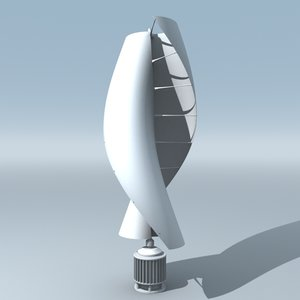 3ds max helical savonius wind turbine