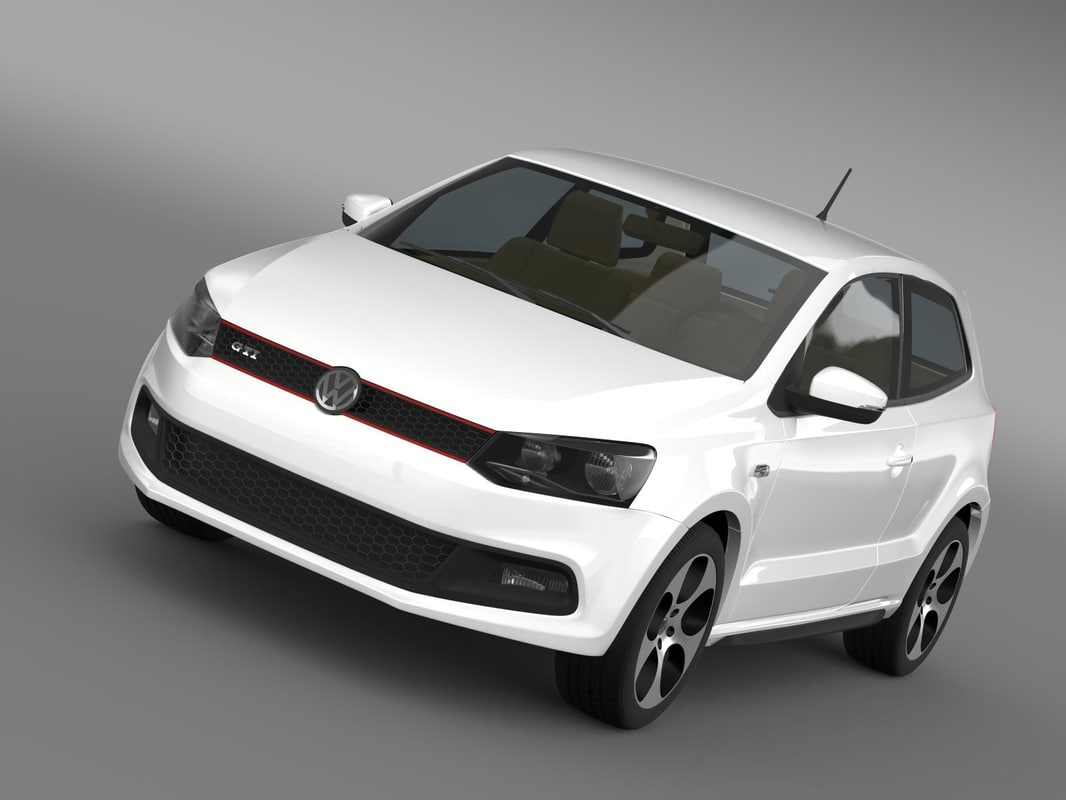 3d volkswagen polo gti 2009-2013 model