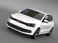 volkswagen polo gti 5d 3d model