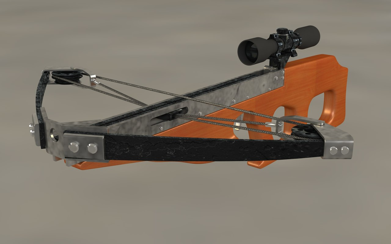 crossbow bow 3d model