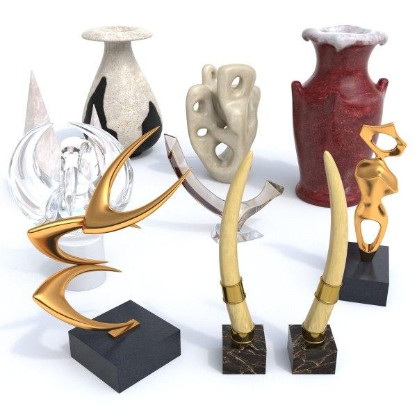 3d decor objects model