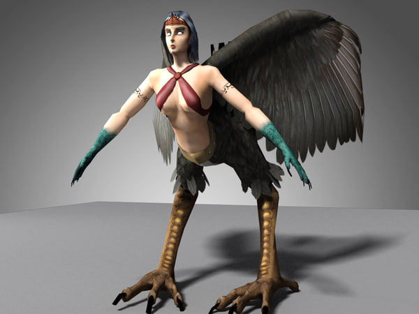 harpy character 3d max