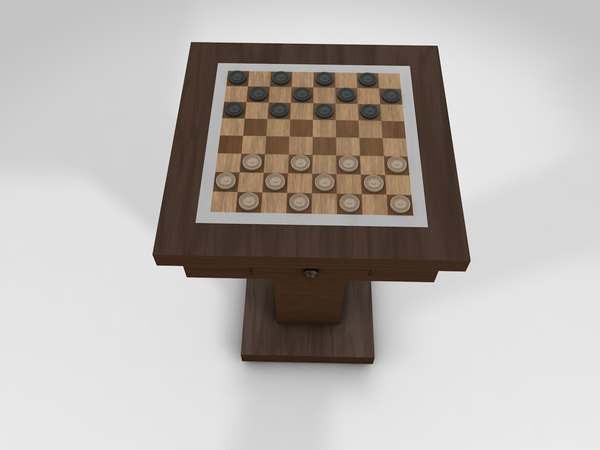 checkers table c4d