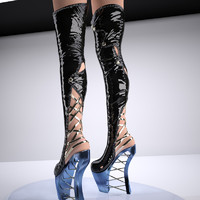 zigzag sexy boots