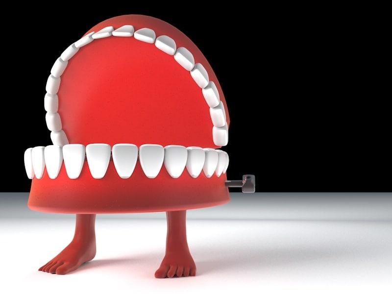 3d toy teethe