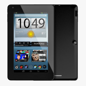 3d android compact pc tablet model
