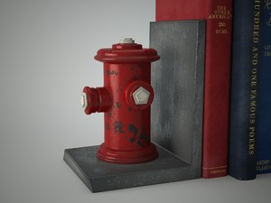 max red hydrant bookend