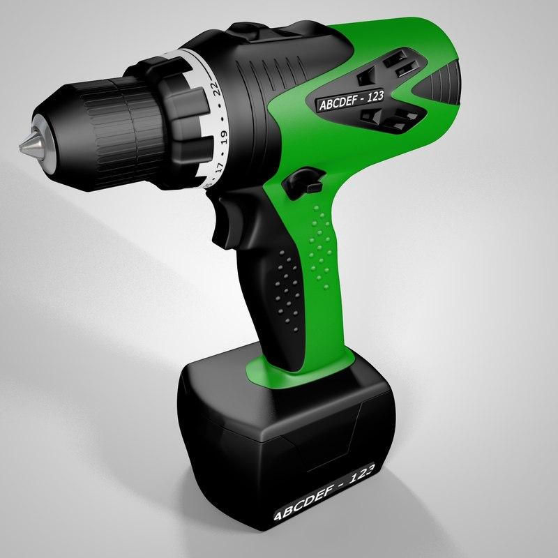 electric screwdriver 3d c4d