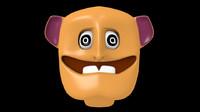 simple cartoon head 3d model