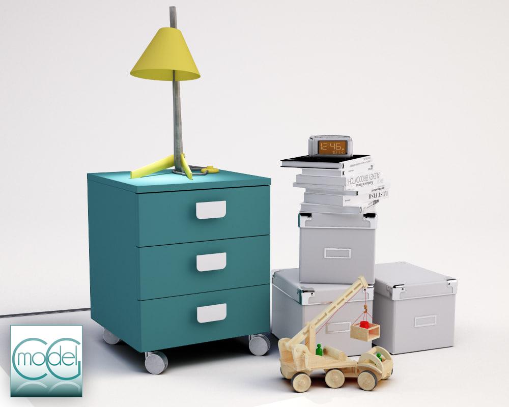 3d model billy objects lamp