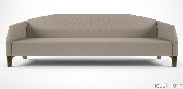 3d holly hunt vector sofa model