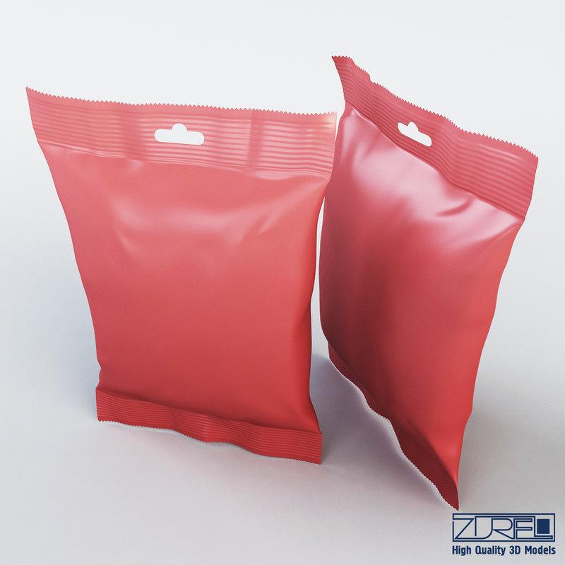 food packaging 50 grams 3d model