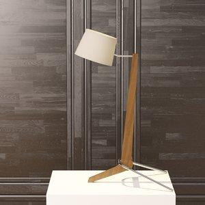 silva desk lamp cerno 3d model