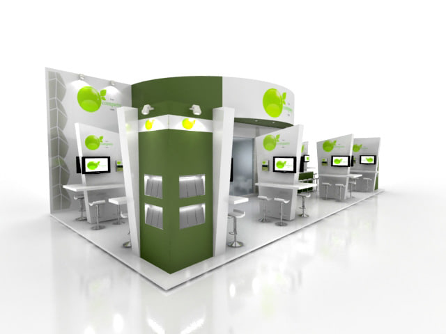 Exhibition Stand 3d Model Free : Fair stand exhibition d model