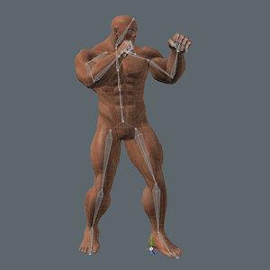 3d model of real-time dark superhero