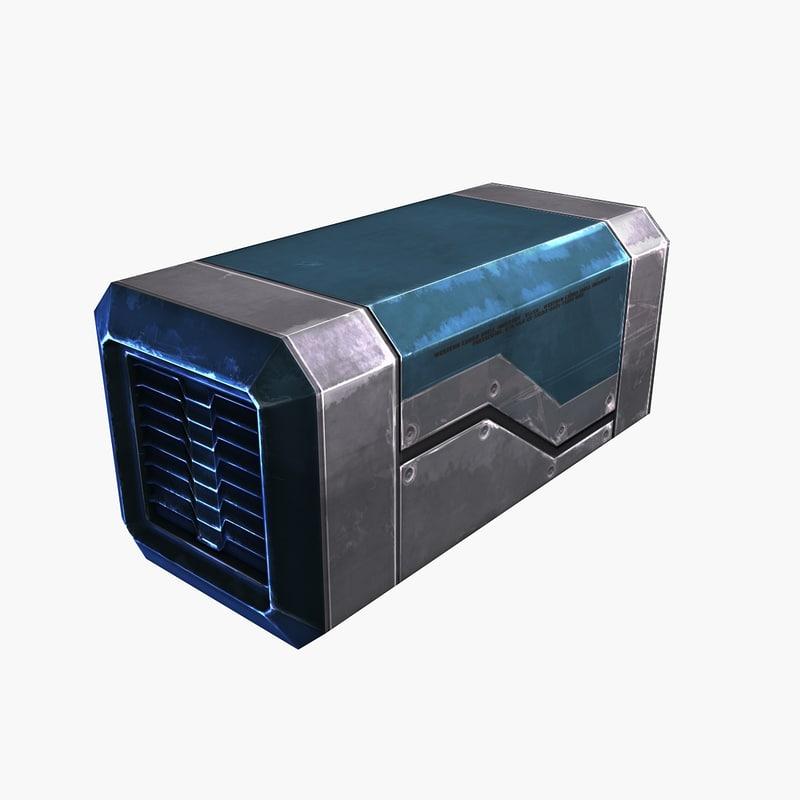 sci-fi container 5 blue max