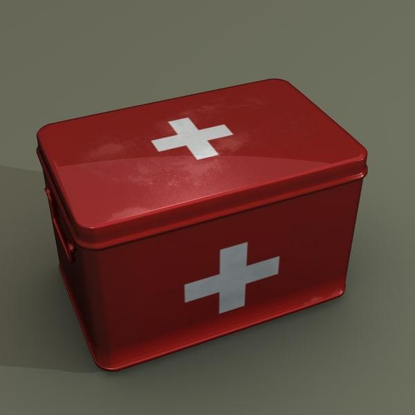 medical supplies box 3d model