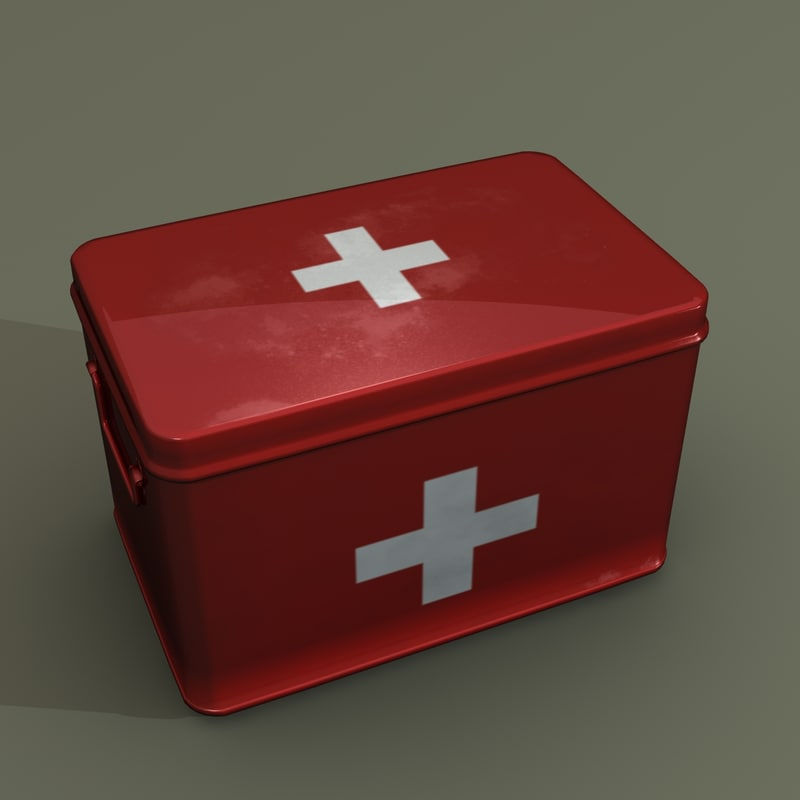 medical supplies box 3d model
