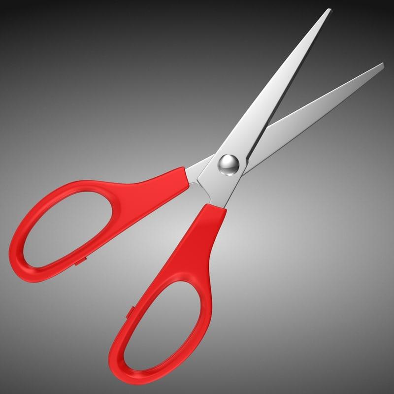 3d scissors subdivided