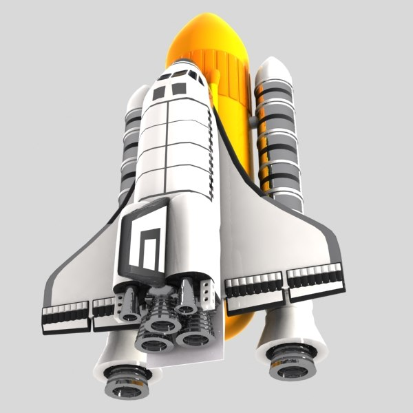 cartoon space shuttle 3d max