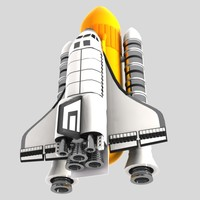 cartoon space shuttle 3d max