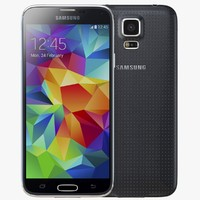 3d model samsung galaxy s5 black
