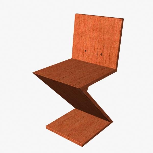 3d zigzag chair
