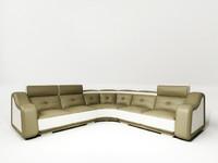 l-shape sofa 3d 3ds