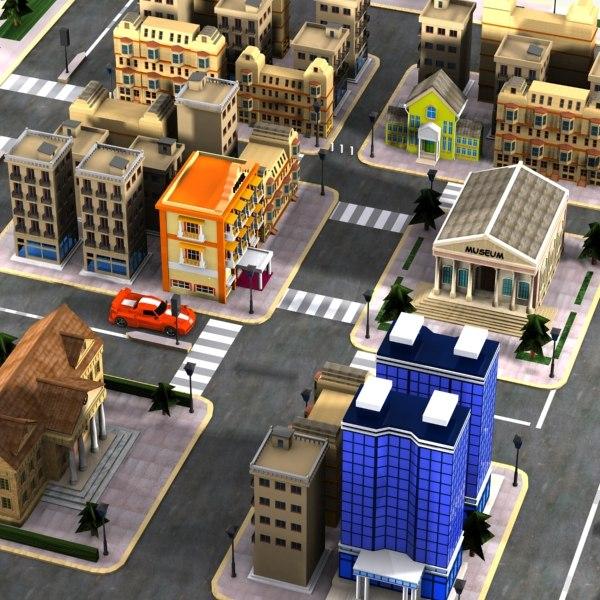 cartoon city toon 3d 3ds